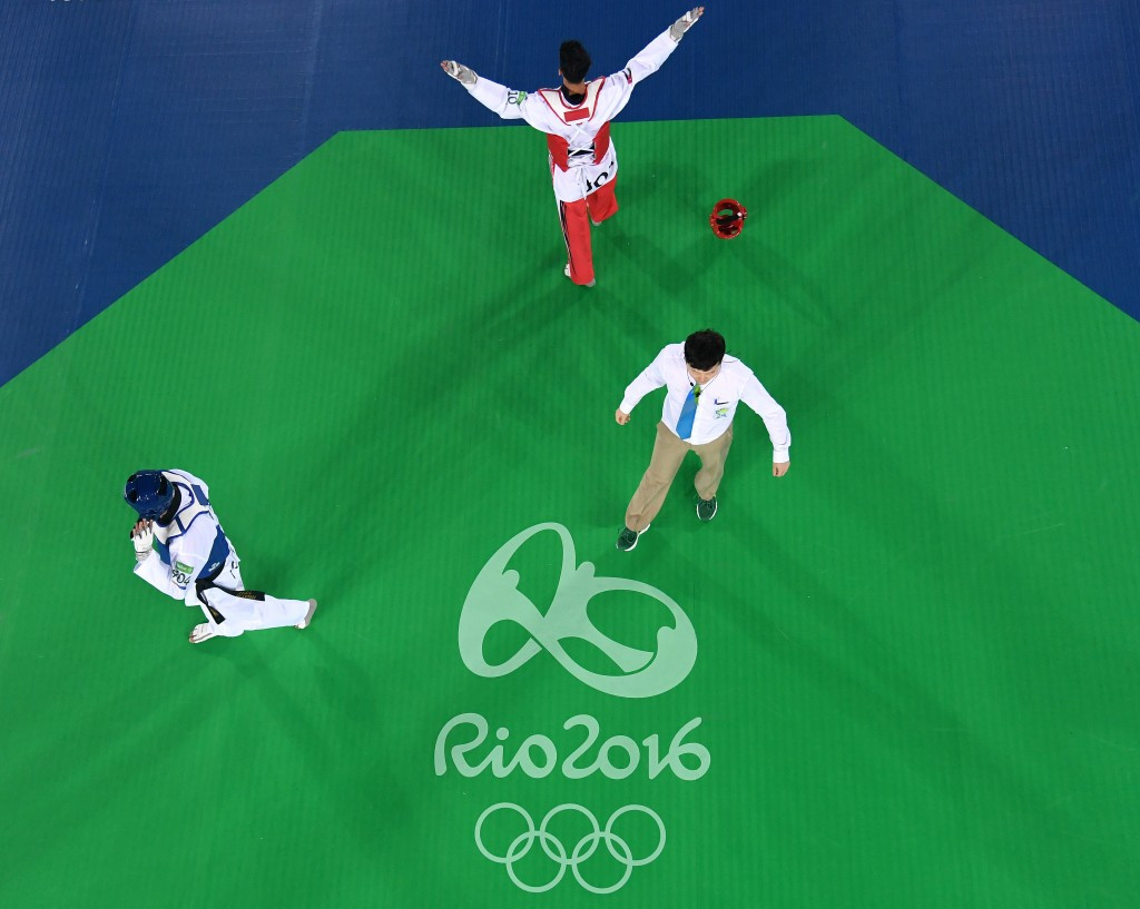 Abughaush produces shock after shock to win first Olympic gold medal for Jordan