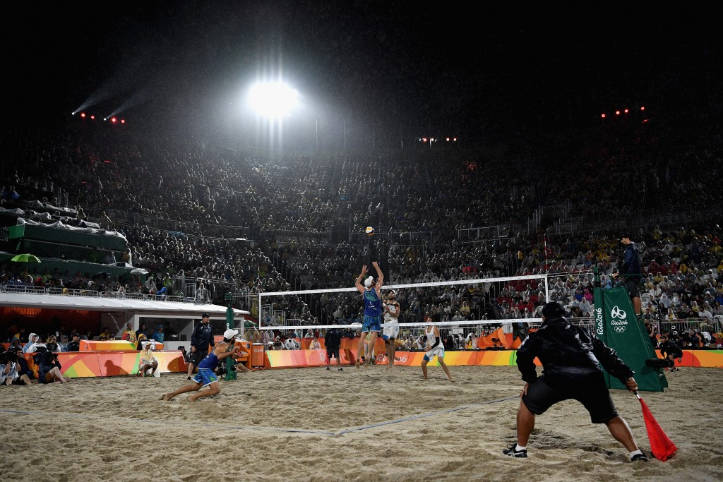 Brazil proved too strong for their Italian opponents at Copacabana ©Getty Images