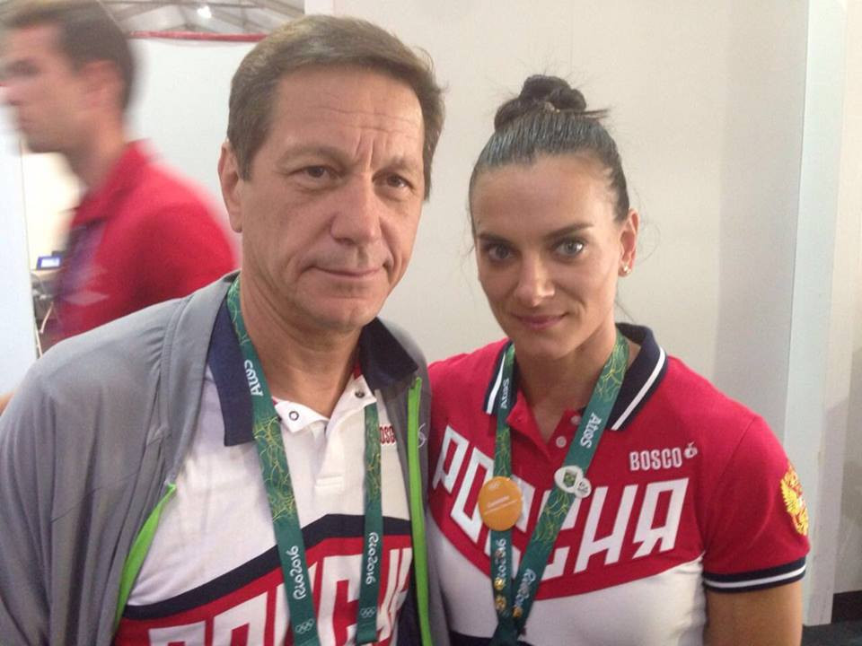 Yelena Isinbayeva, pictured with Russian Olympic Committee President Alexander Zhukov, has been elected as a member of the International Olympic Committee ©ROC
