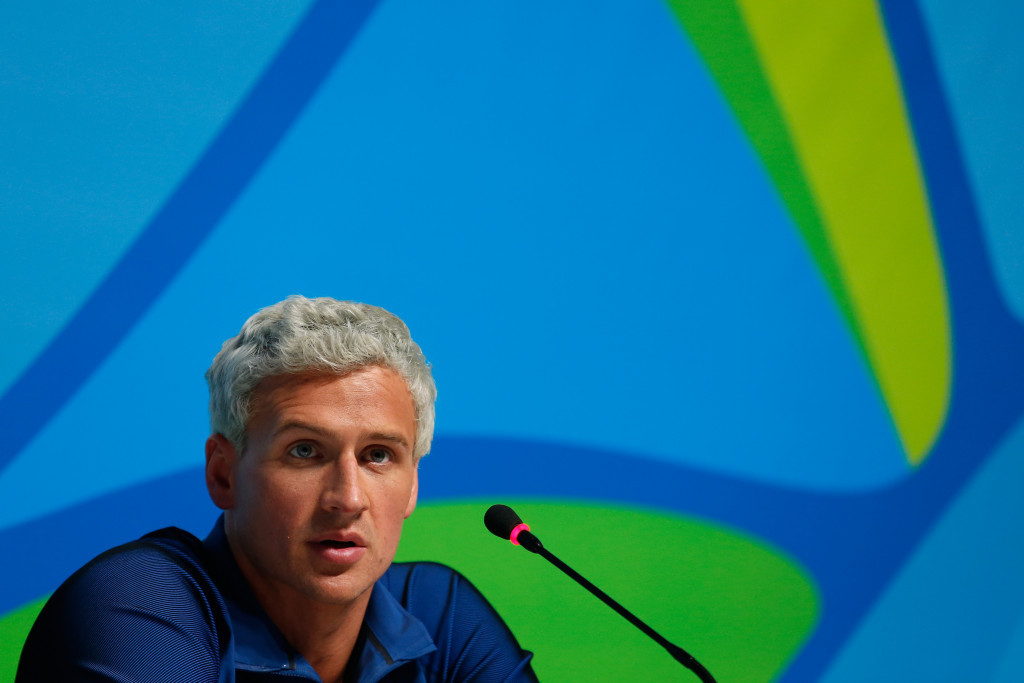 Ryan Lochte has apologised for his behaviour ©Getty Images