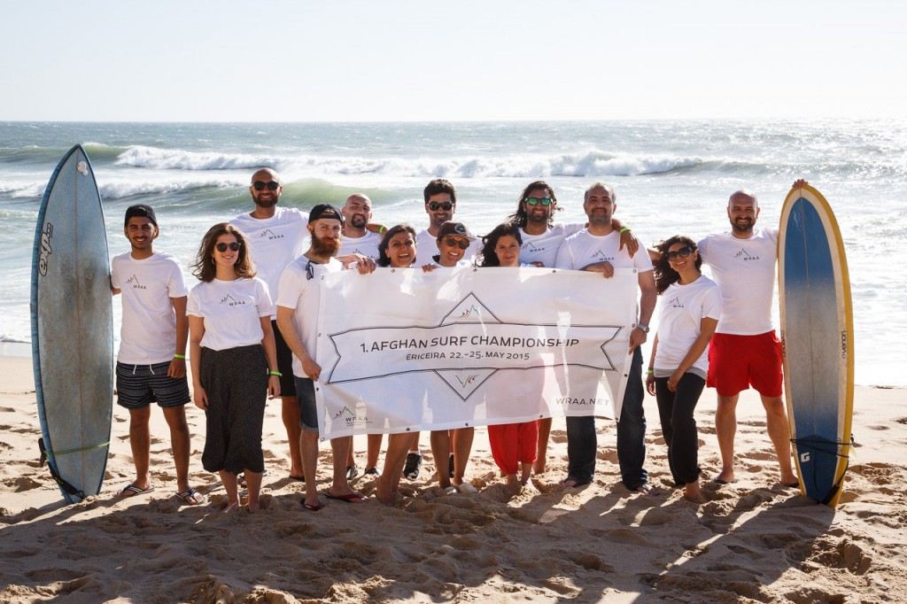 The inaugural Afghan Surf Championships were held in Portugal in 2015 ©ISA