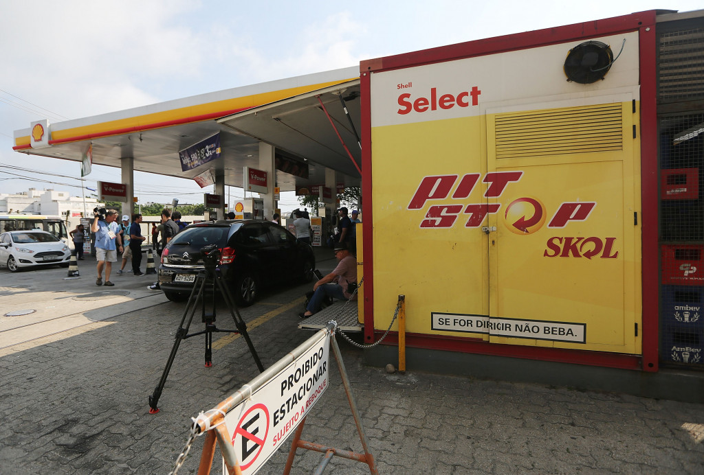 CCTV footage has emerged of an altercation in a petrol station in Rio ©Getty Images