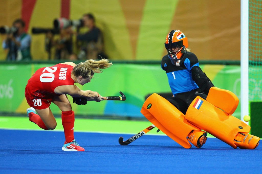 Hollie Webb scored the winning penalty for Great Britain ©Getty Images