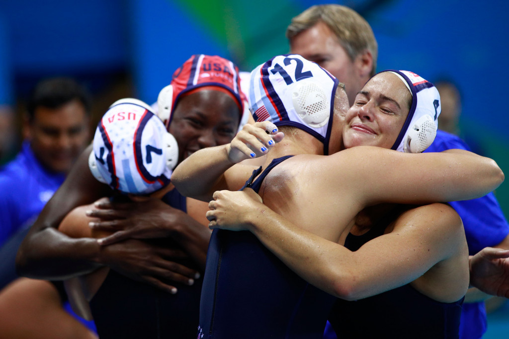 US dedicate gold medal to coach after successfully defending women's water polo title