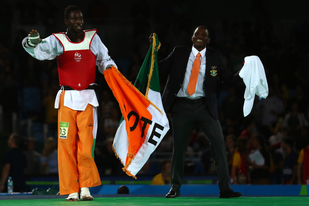 Last second spinning headkick by Cisse secures first ever Olympic gold medal for Ivory Coast