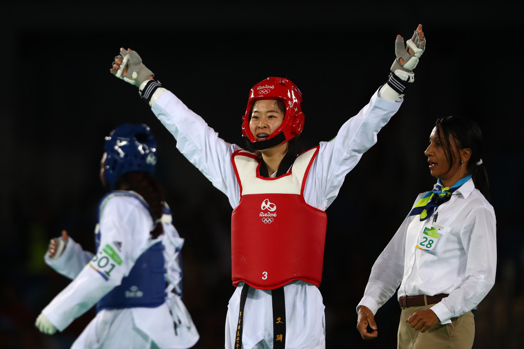 Oh Hyeri claimed gold for South Korea in the women's under 67kg final ©Getty Images