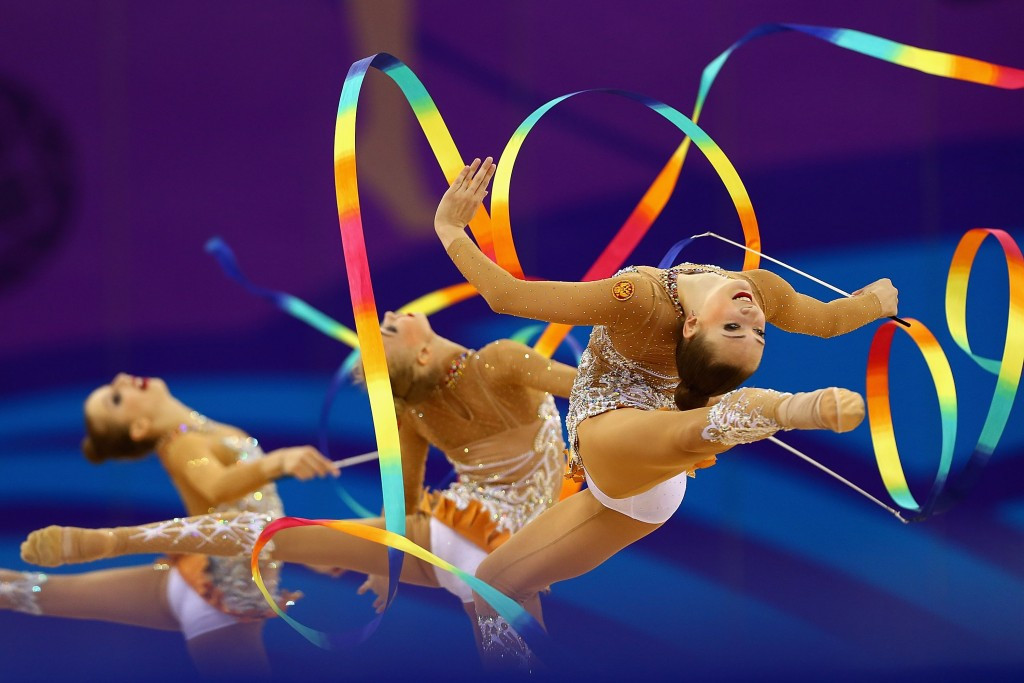 Russia's ribbon routine sets up Baku 2015 rhythmic gymnastics all-around triumph