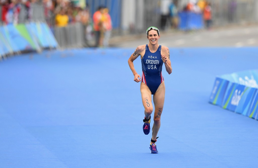 Favourite Jorgensen holds off strong Spirig challenge to win women's Olympic triathlon gold medal