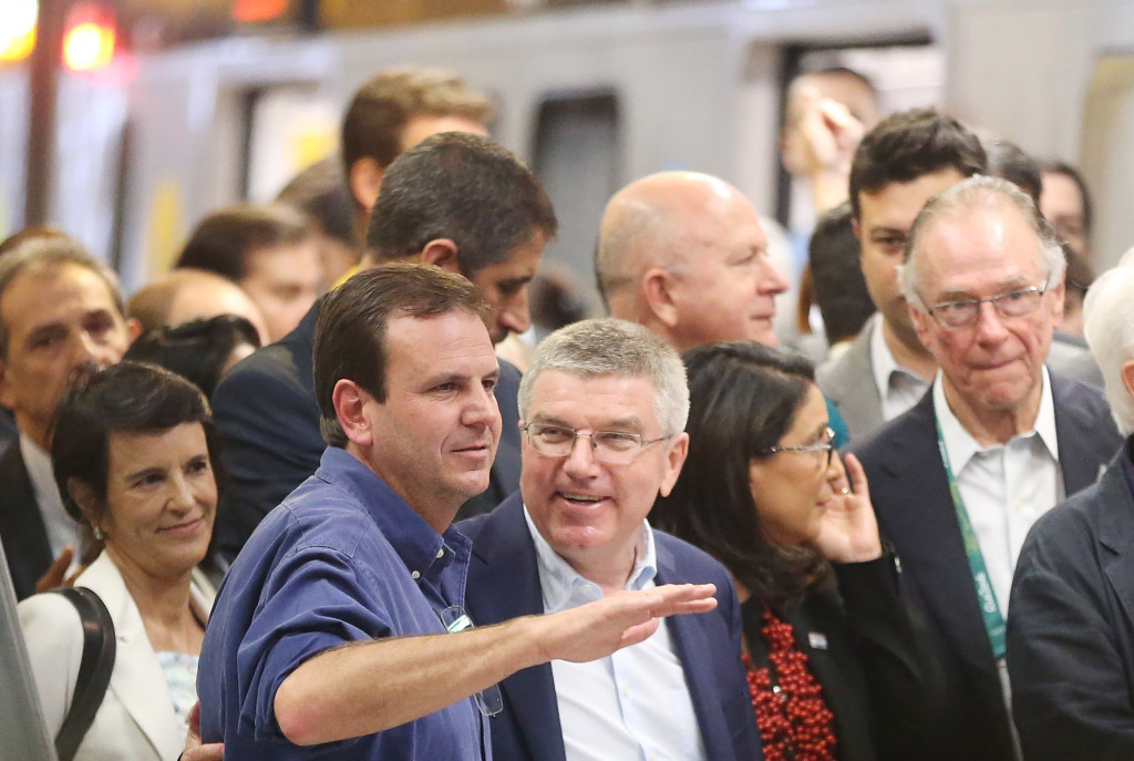 The subway extension linking the city centre to Barra de Tijuca was hailed as one positive legacy of Rio 2016 by International Olympic Committee President Thomas Bach ©Getty Images