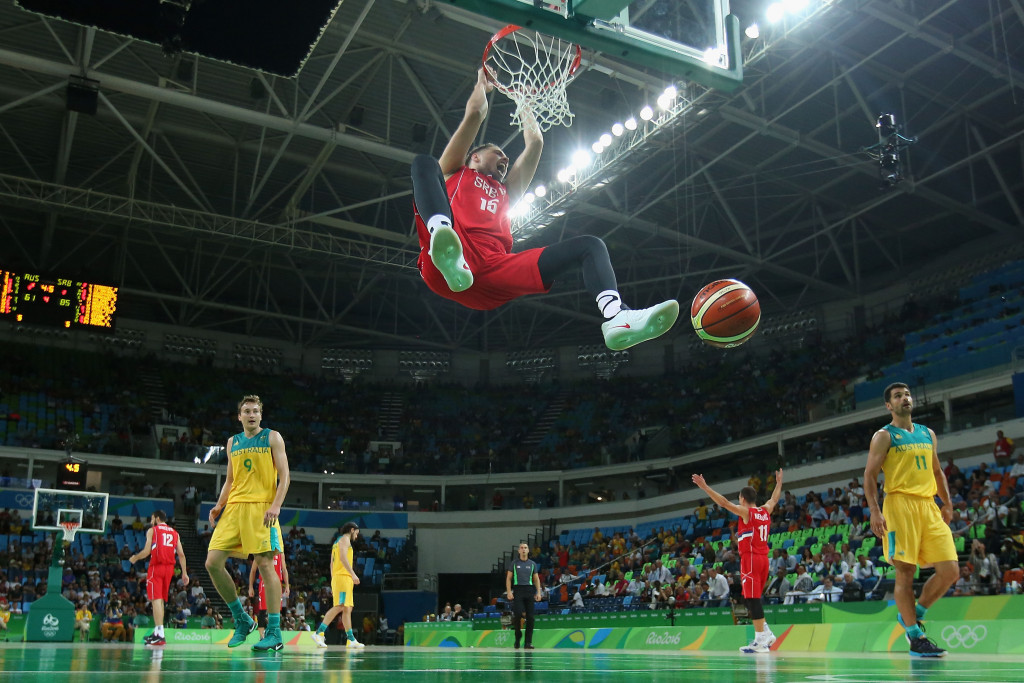 Australian athletes were sanctioned for sitting in the wrong seats at the men's basketball semi-final ©Getty Images