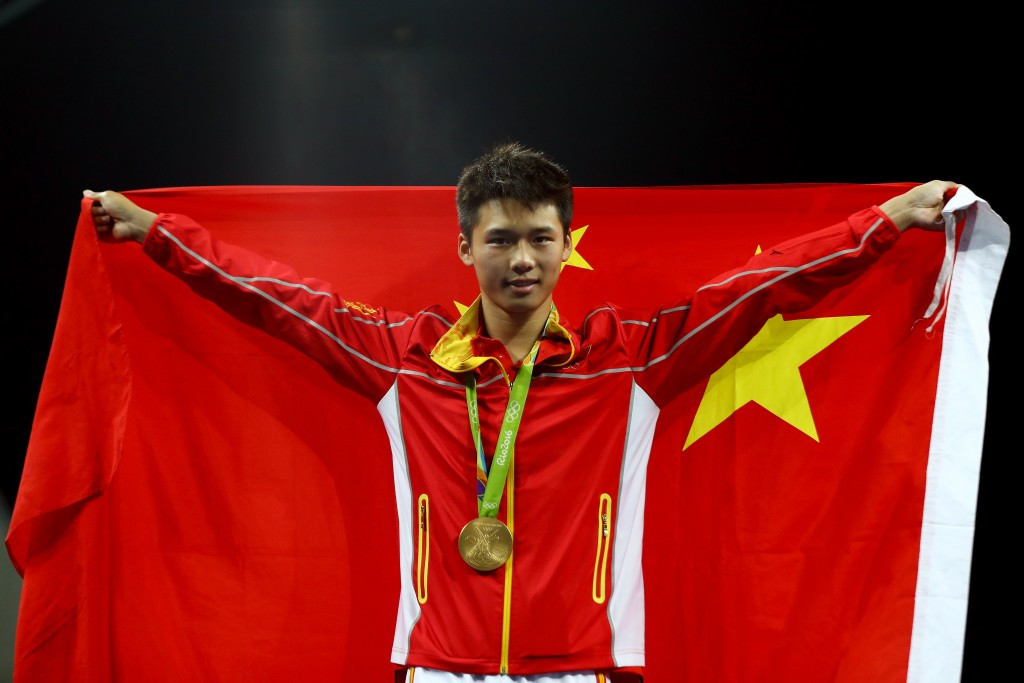 Chen Aisen claimed a comfortable victory in the men's 10m platform final ©Getty Images