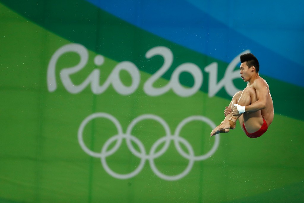 Chen Aisen added to his 10m synchronised gold in the individual event ©Getty Images