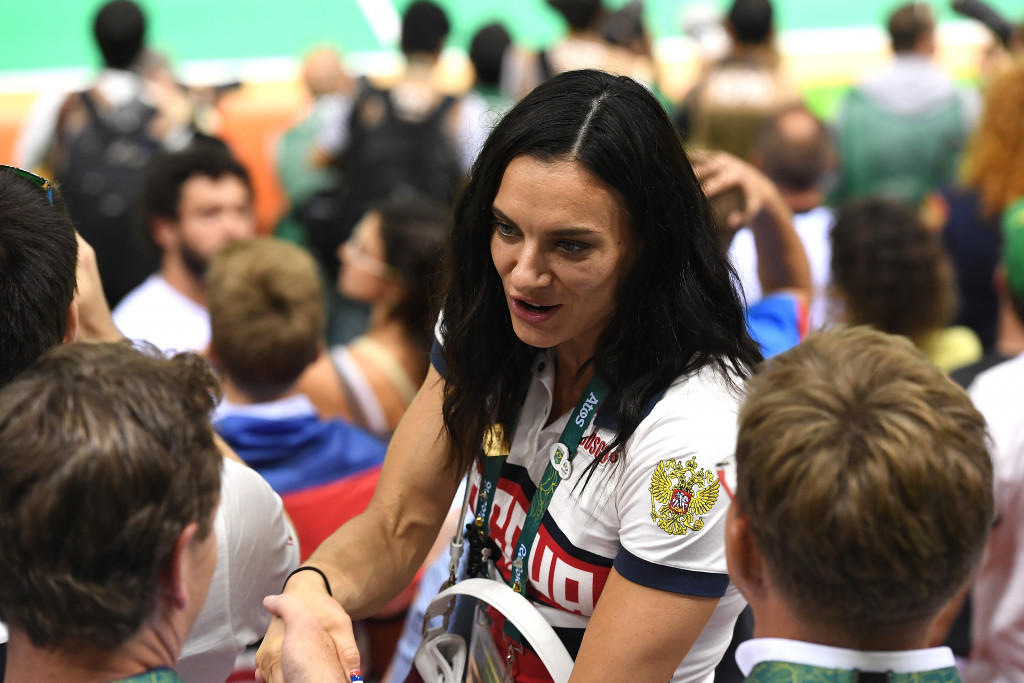 Yelena Isinbayeva, pictured watching handball at Rio 2016, has criticised IAAF President Sebastian Coe for the lack of communication with her and failing to congratulate her on her election as an IOC member ©Getty Images