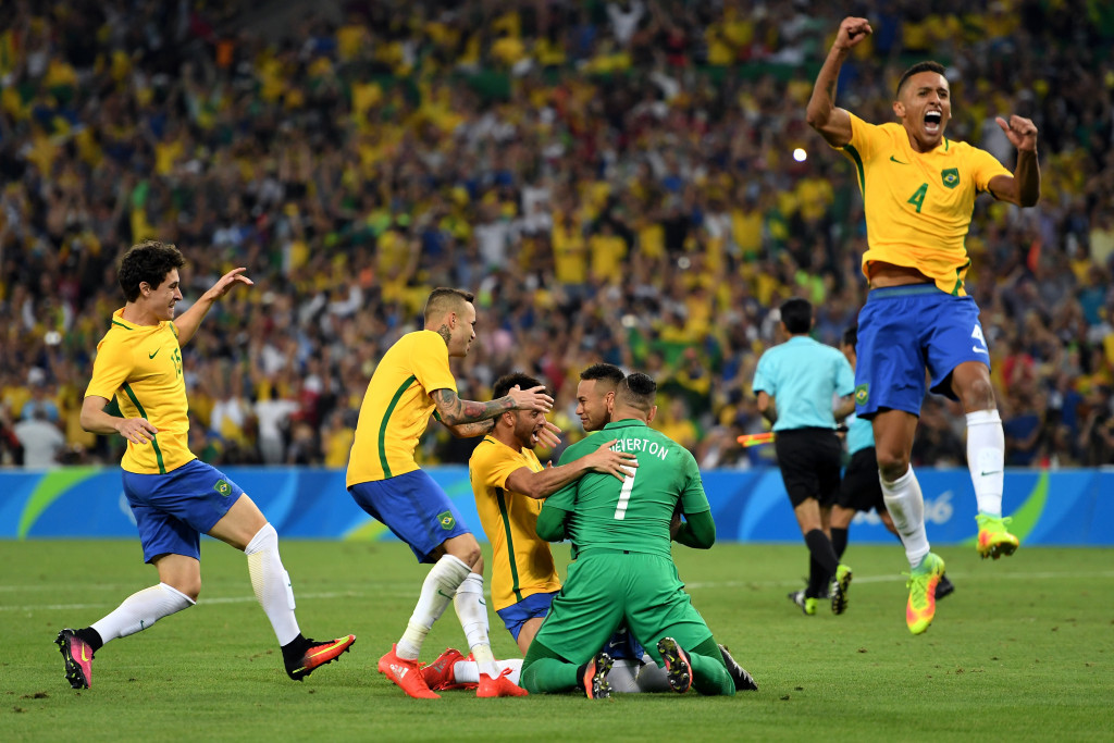 Raucous celebrations broke out around the Maracanã following the final penalty ©Getty Images