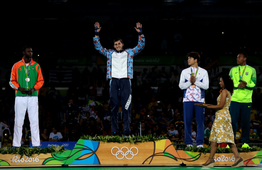 Radik Isaev claimed Azerbaijan's first gold medal of Rio 2016 in the men's over 67kg taekwondo ©Getty Images