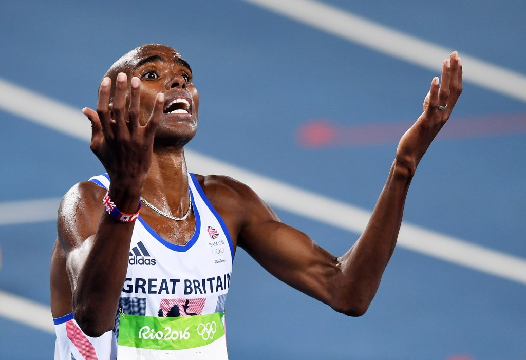 Farah seals Olympic double double with 5,000m win as Centrowitz earns shock 1500m gold