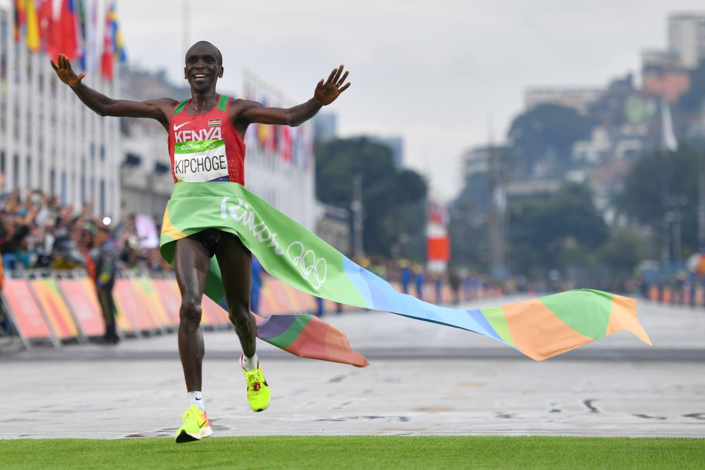 Eliud Kipchoge lived up to his billing as favourite for the men's marathon, becoming the second Kenyan Olympic champion after Sammy Wanjiru in 2008 ©Getty Images