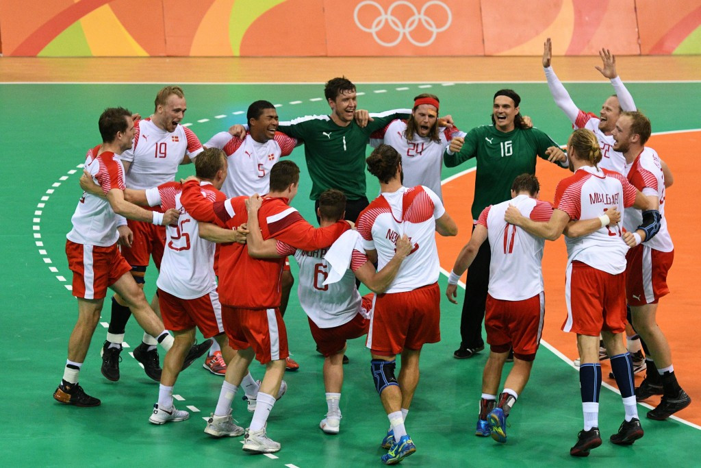 Denmark beat France to claim first ever men's Olympic handball title