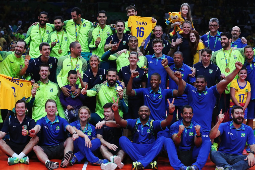 Brazil end Rio 2016 in style as men's volleyball team beat Italy to clinch Olympic gold
