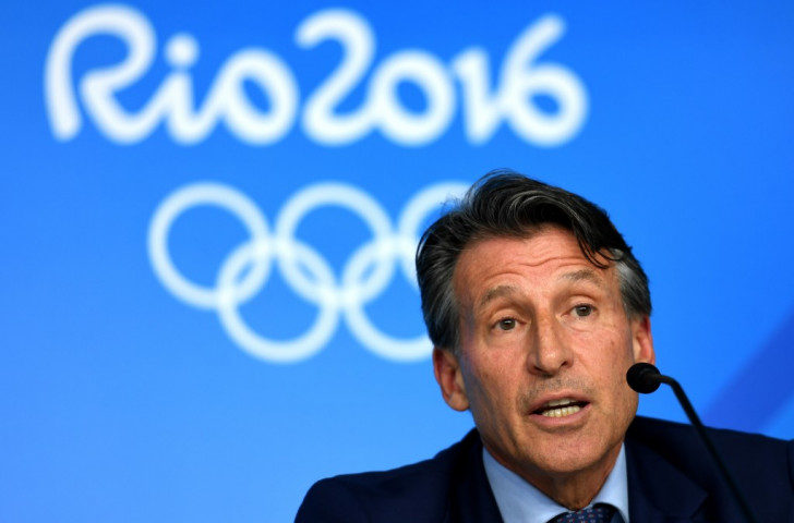 Sebastian Coe, President of the International Association of Athletics Federations, at his closing press conference on the last night of athletics at the Olympic Stadium. He has been urged to join the IOC in order to give a