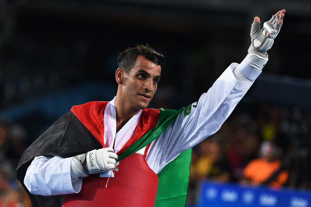 Ahmad Abughaush won a historic gold medal for Jordan ©Getty Images