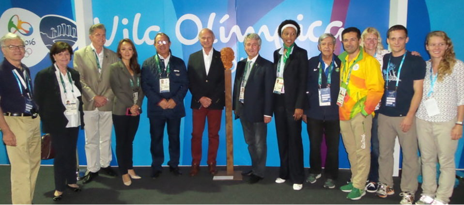 UIPM donate Pierre de Coubertin bust to Rio 2016 Athletes' Village