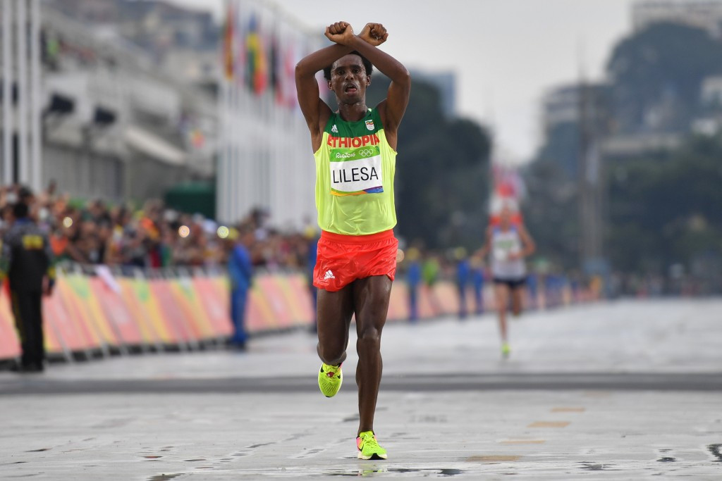 Rio 2016 marathon silver medallist Feyisa Lilesa has reportedly not returned home ©Getty Images