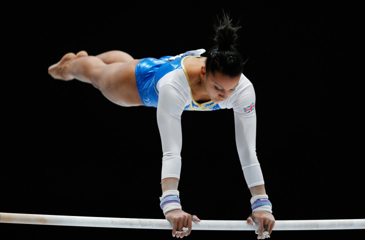 Britain's Commonwealth Games champion Becky Downie will be looking to retain her uneven bars European title