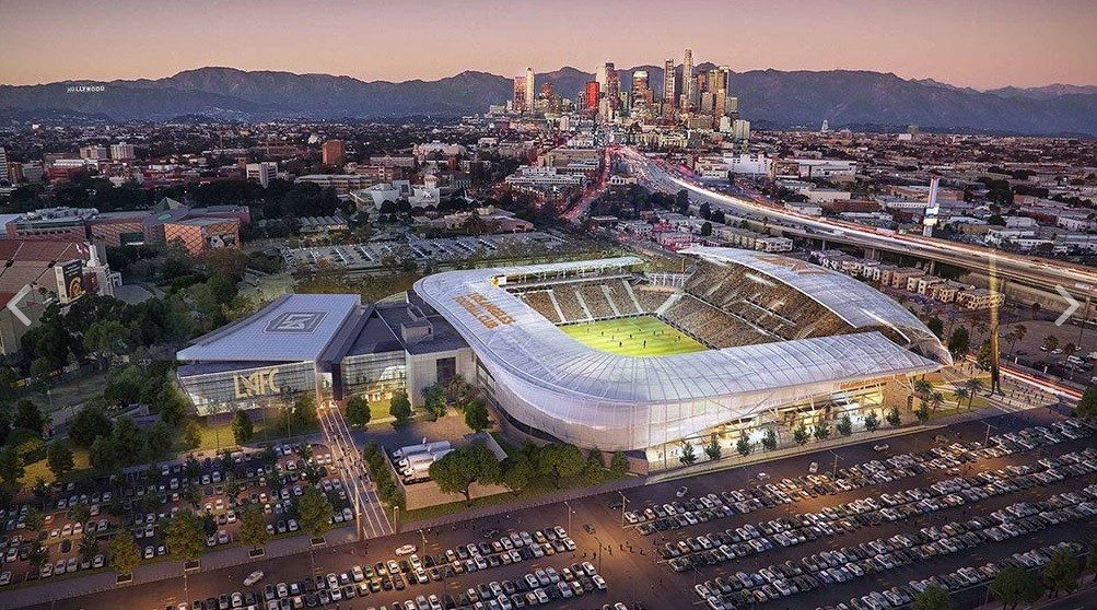 Los Angeles 2024 hail construction of new stadium following groundbreaking ceremony