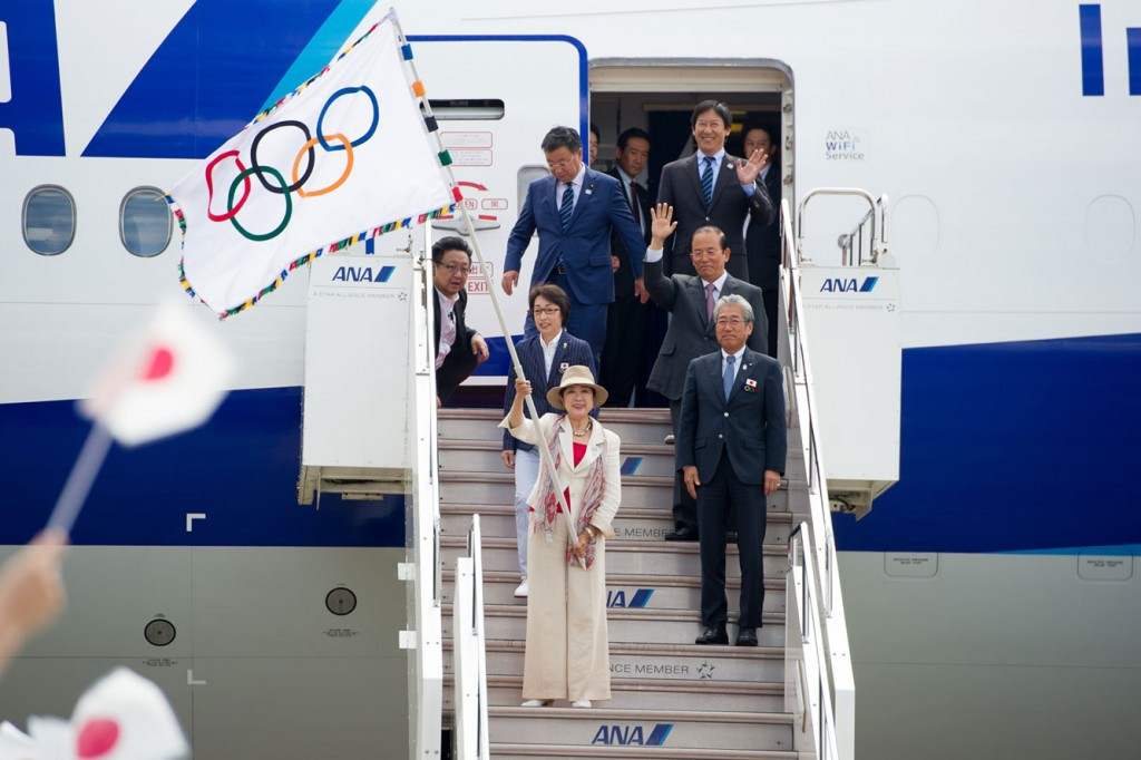 Olympic Flag arrives in Tokyo ahead of 2020 Games