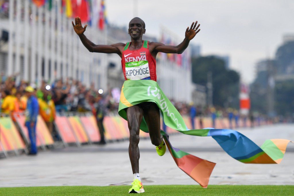 Eliud Kipchoge's gold in the men's Marathon ensured Kenya achieved a record Olympic haul ©Getty Images