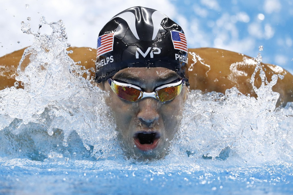 Swimming legend Michael Phelps is in contention for the Male Athlete of the Olympic Games award ©Getty Images