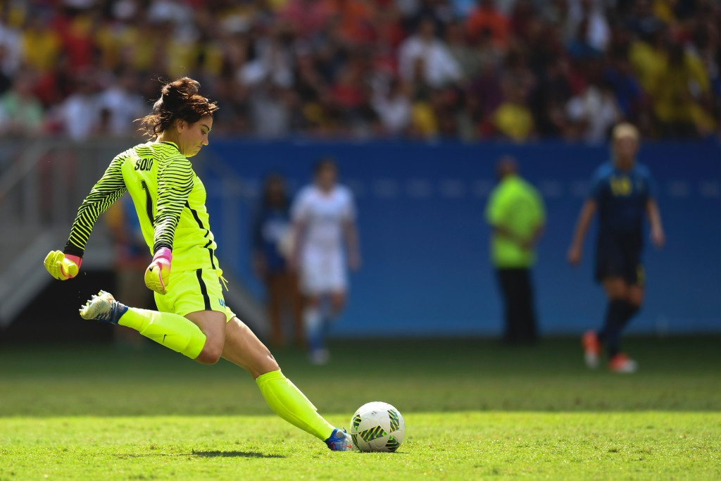 Hope Solo has been handed a six-month suspension ©Getty Images