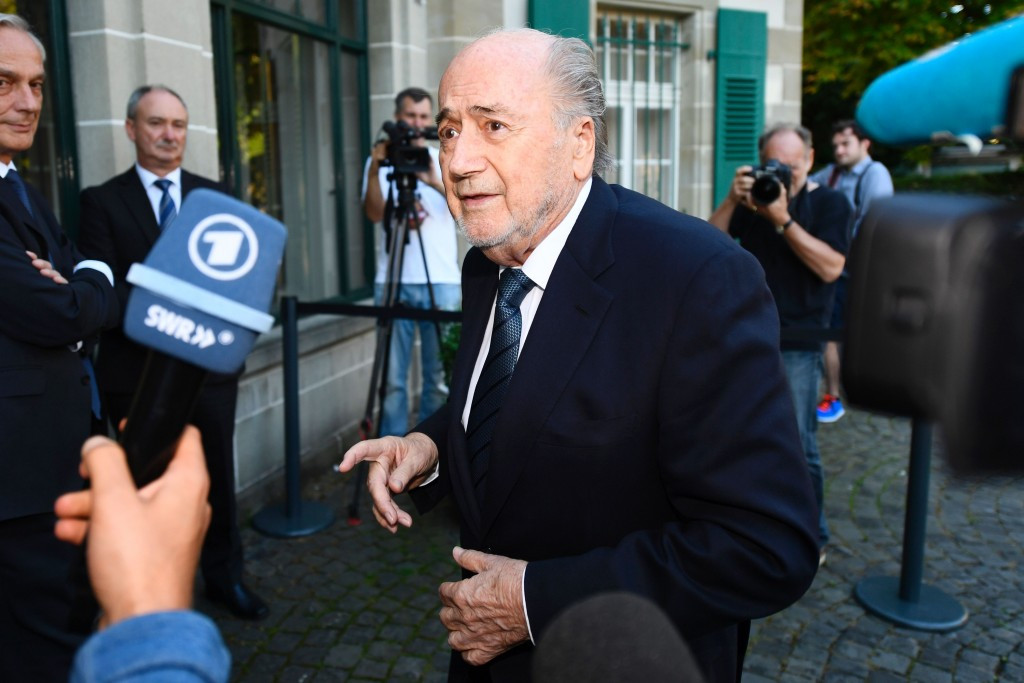 Sepp Blatter has vowed to accept the verdict of the CAS as he arrived for his hearing today ©Getty Images