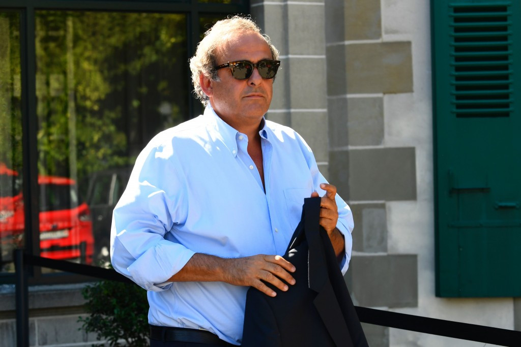 Banned former UEFA President Michel Platini was also seen arriving at the CAS ©Getty Images