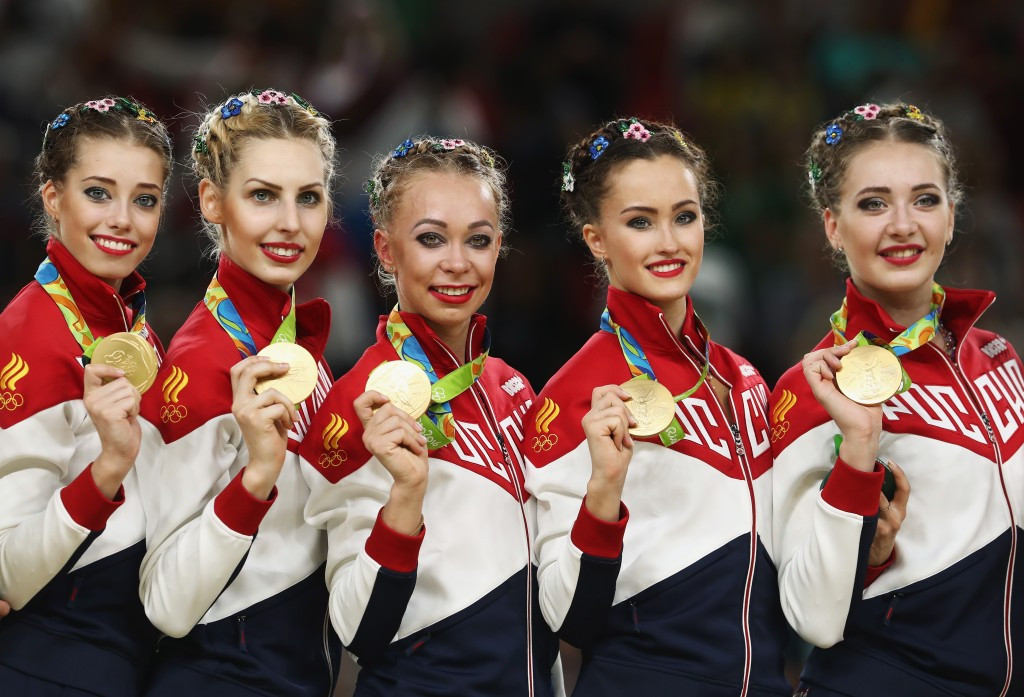 Dmitry Medvedev also rewarded Russian medallists from Rio 2016 with brand-new BMWs ©Getty Images