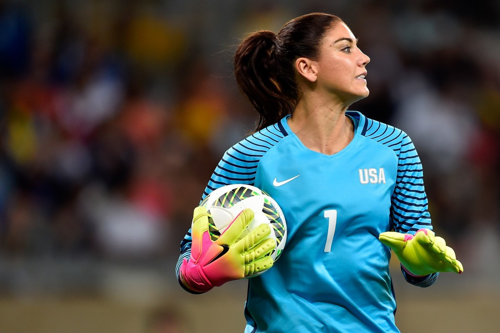 United States goalkeeper Hope Solo has been hit with a six-month suspension for calling Sweden's team a bunch of cowards ©Getty Images