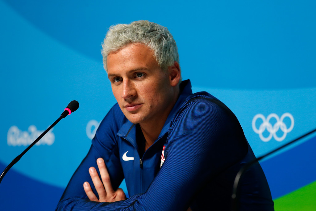 Brazilian police have charged American swimmer Ryan Lochte with filing a false statement about being robbed at gunpoint during the Rio 2016 Olympic Games ©Getty Images