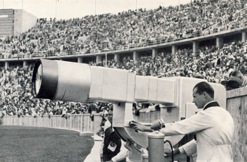 A television camera being used at the Berlin 1936 Olympics ©Philip Barker