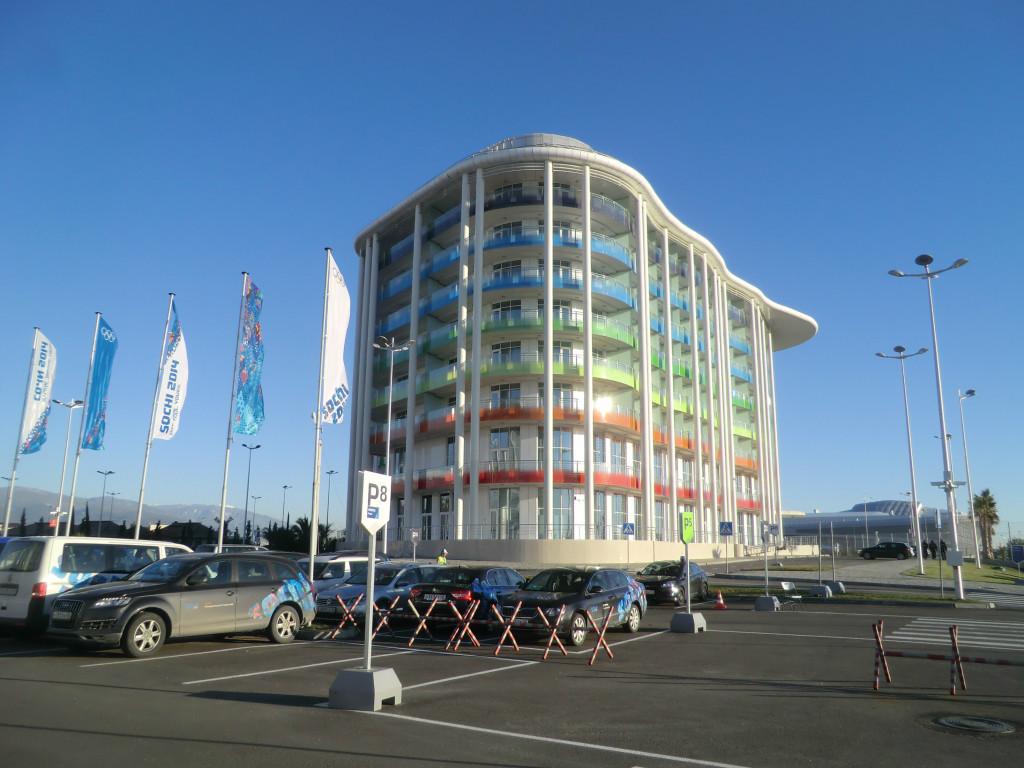 The NBC hotel near to the International Broadcast Centre at Sochi 2014 ©Philip Barker