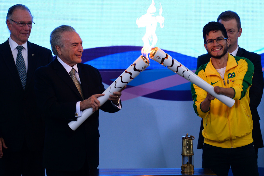 Rio 2016 Paralympic Torch lit in Brasília