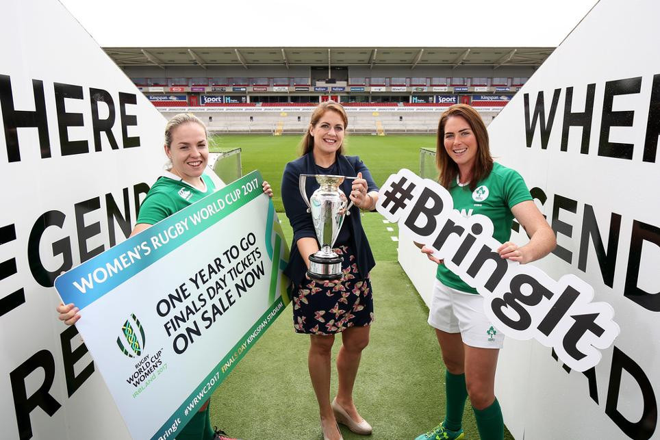 Ireland captain helps launch ticket sales for 2017 Women's Rugby World Cup