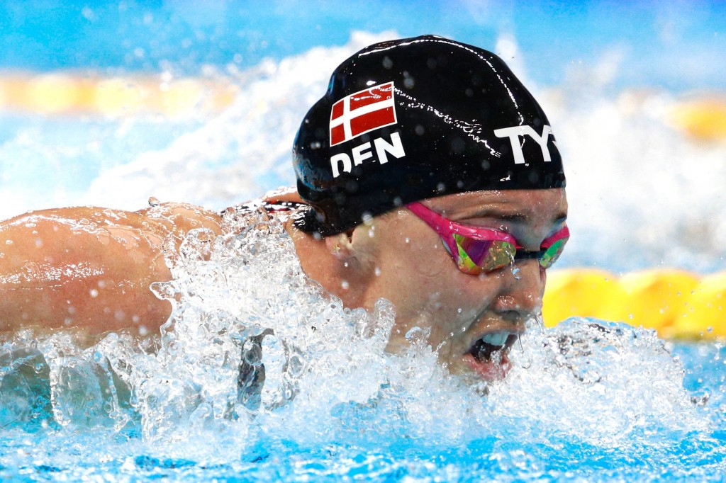 Denmark's Jeanette Ottesen took gold in the women's 100m freestyle ©Getty Images