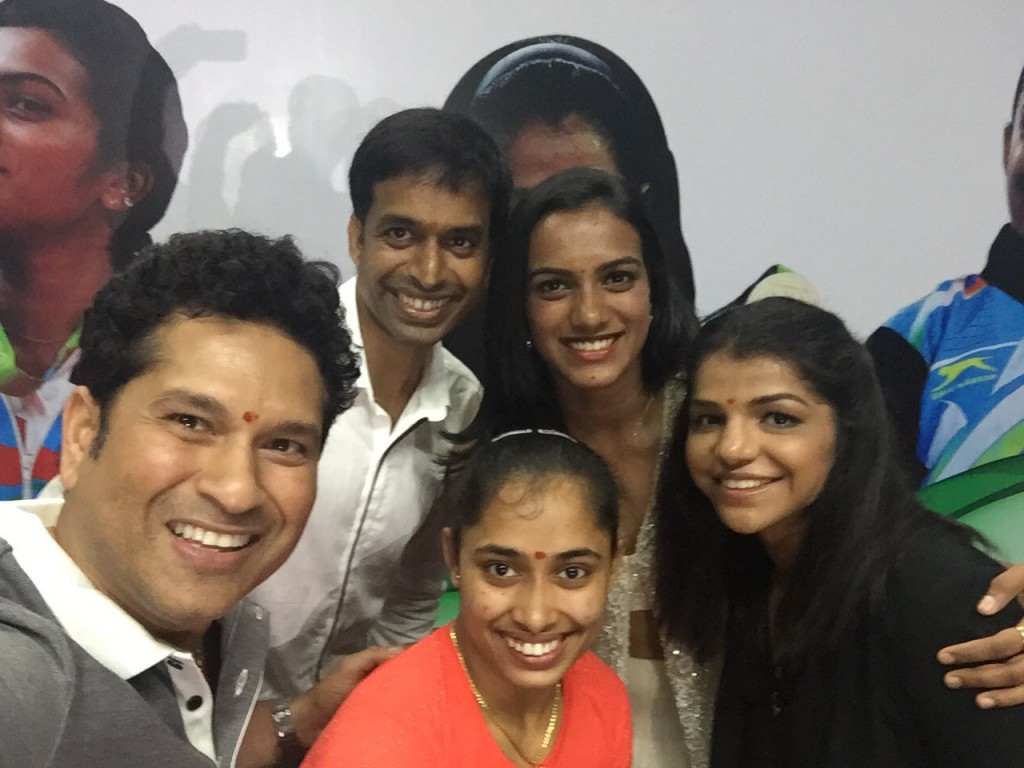 Cricket legend Sachin Tendulkar has awarded India's successful Olympians with a brand new BMW car ©Sachin Tendulkar/Twitter