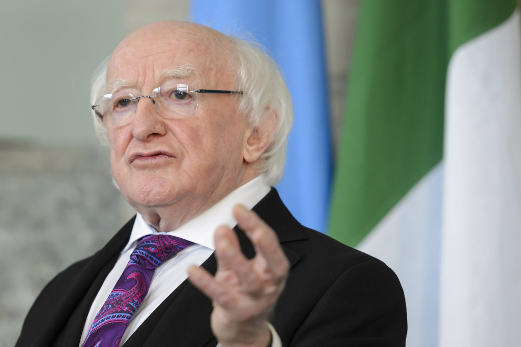 Irish President Michael Higgins has warned doping and sports administration could affect public confidence ©Getty Images