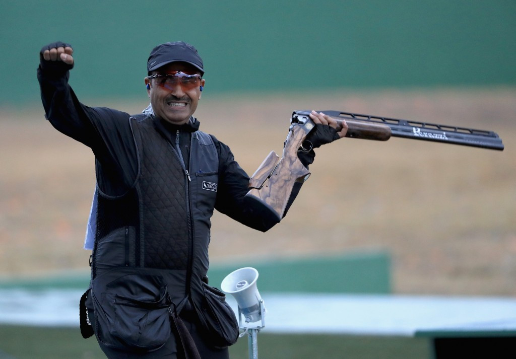 Kuwaiti shooter Fehaid Al-Deehani became the first ever Independent Olympic Athlete to win a gold medal at Rio 2016 ©Getty Images