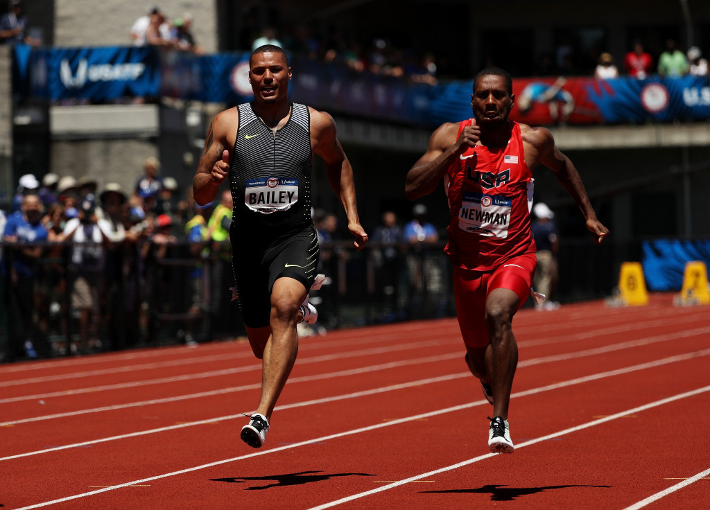 Ryan Bailey finished fifth in the London 2012 100m ©Getty Images