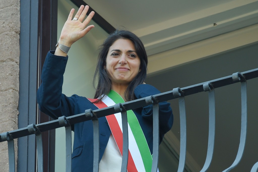 Rome Mayor Virginia Raggi's opposition to her city's Olympic bid led to the effort being suspended yesterday ©Getty Images