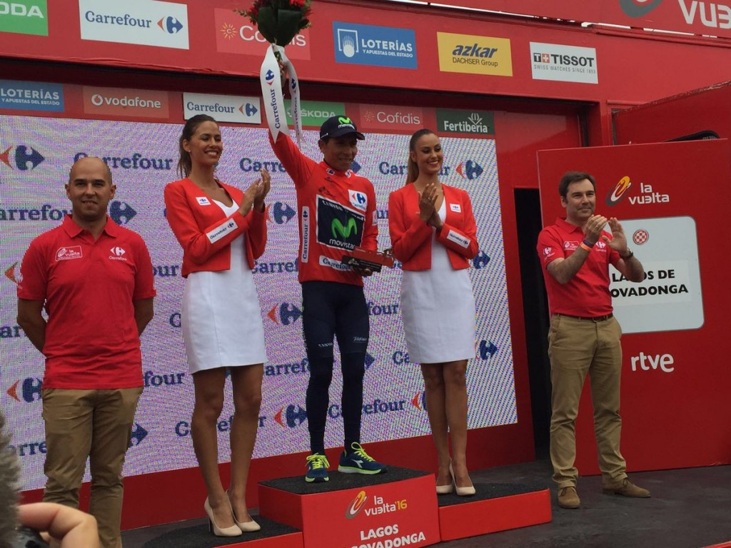 Nairo Quintana took the overall race lead at the Vuelta a Espana ©Twitter/Vuelta a Espana