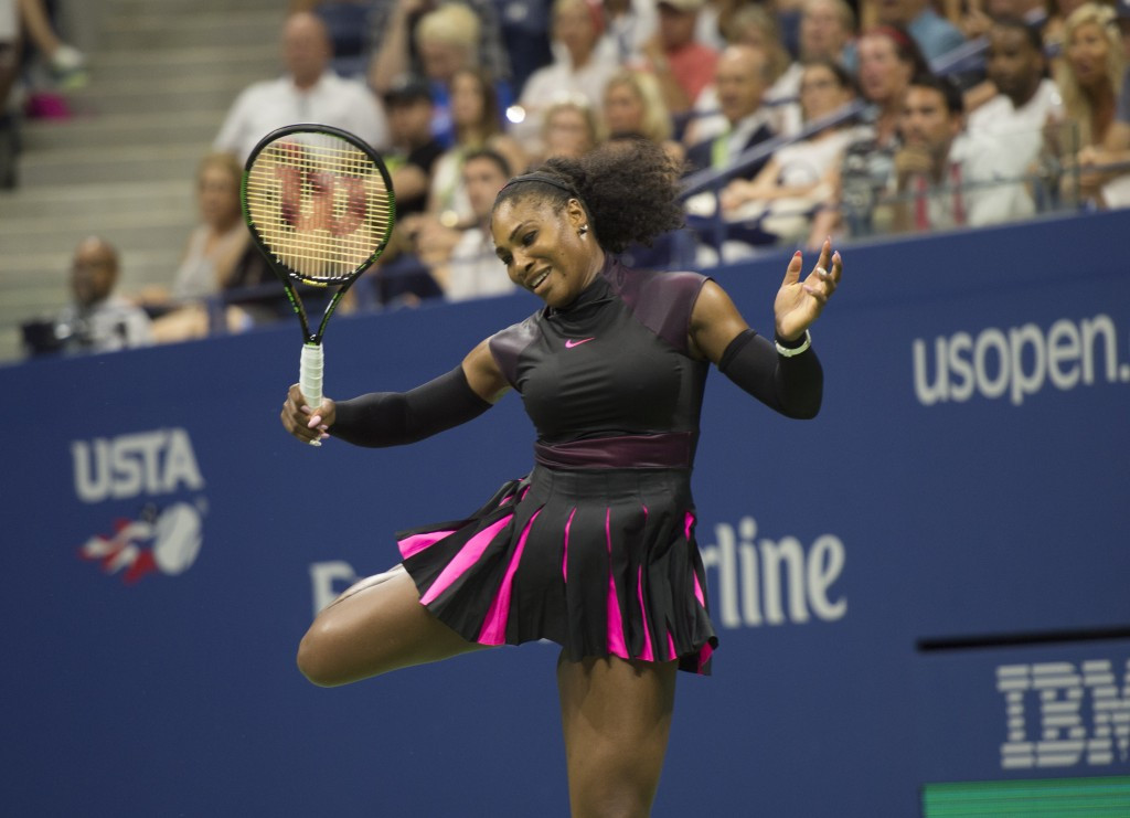 World number one Serena Williams comfortably booked her place in round two ©Getty Images